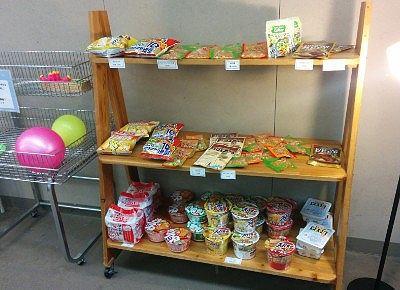 売店で売ってたお菓子やカップラーメン