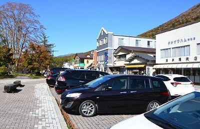 船の駅中禅寺前の駐車場の様子