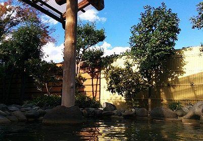 開放的な露天風呂の様子