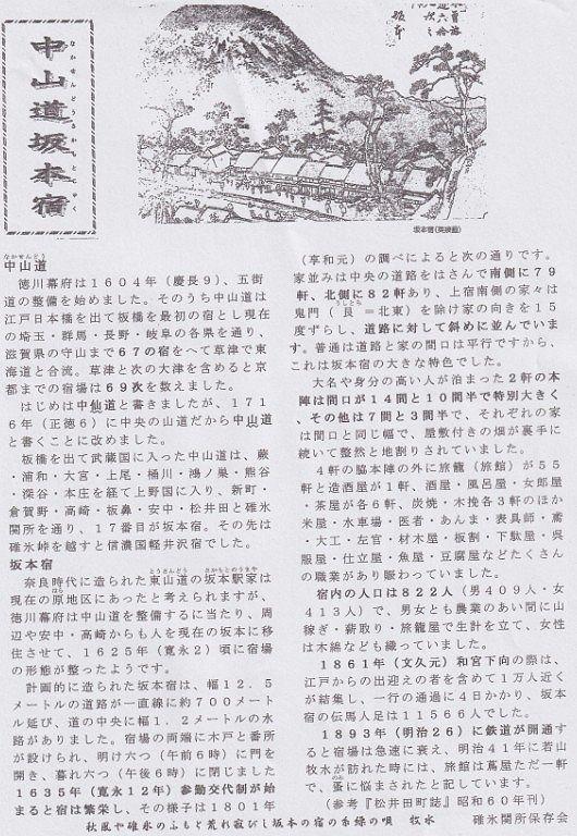 中山道坂本宿の説明