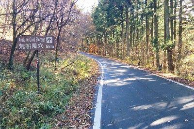 神津牧場に続く道路