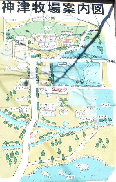 神津牧場案内図
