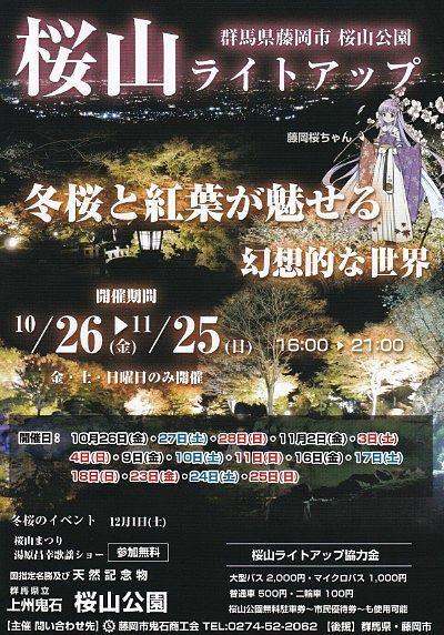 桜山ライトアップチラシ