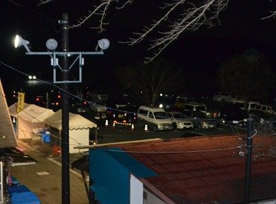 夜の第一駐車場の様子
