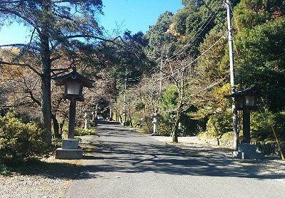 金鑚神社参道