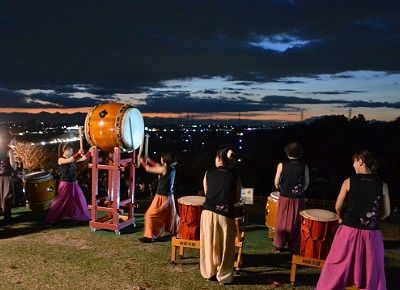 桜太鼓の演奏