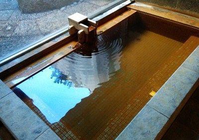 温泉濃度の高かった浴槽