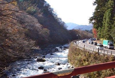 神橋から見た大谷川
