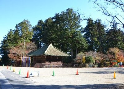 日光幼稚園から見える四本龍寺