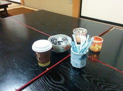 お寺カフェでコーヒー