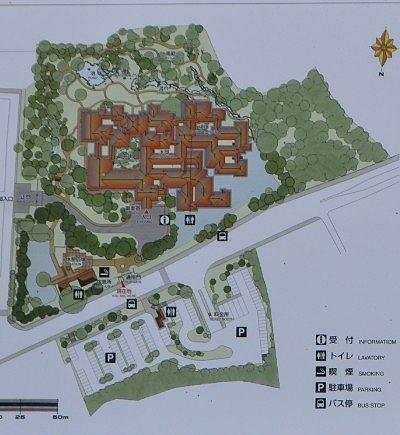 日光田母沢御用邸記念公園園内マップ