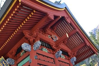 総門の彫刻