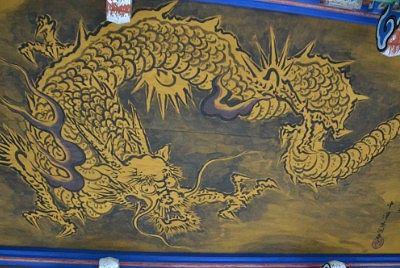 唐門天井の龍