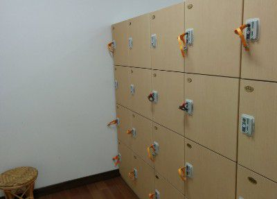 脱衣所のコインロッカー