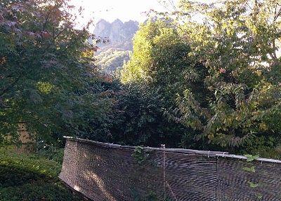 露天風呂から見えた妙義山方向の景色