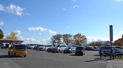 県立妙義公園駐車場の様子
