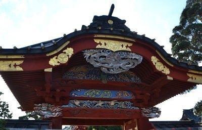 唐門の彫刻や装飾