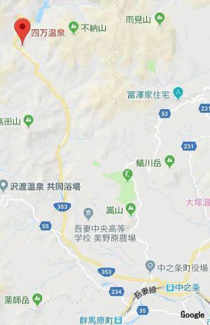 中条駅~四万温泉マップ1