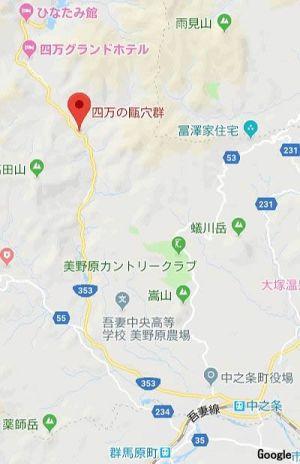 中条駅~四万温泉マップ2