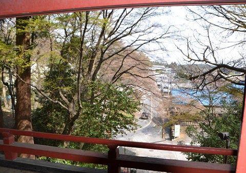 仁王門二階からの景色