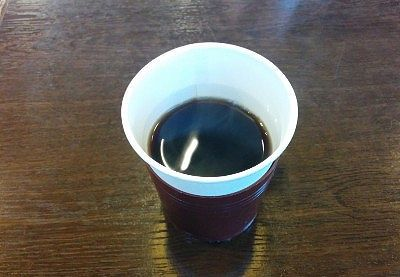 セルフサービスのコーヒー
