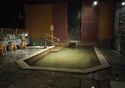 岩根の湯の浴場内の様子