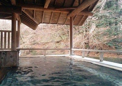 森のこだま露天風呂の屋根