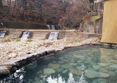 竜宮の湯混浴露天風呂に入りながら見えた景色