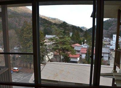 部屋の窓から見えた景色