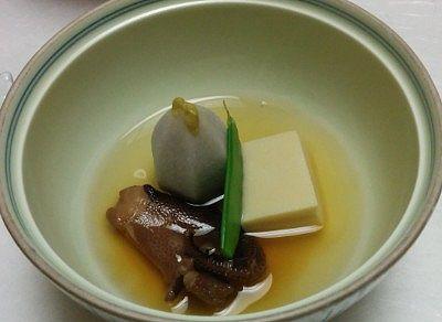 高野豆腐、タコ旨煮、海老芋蜜煮
