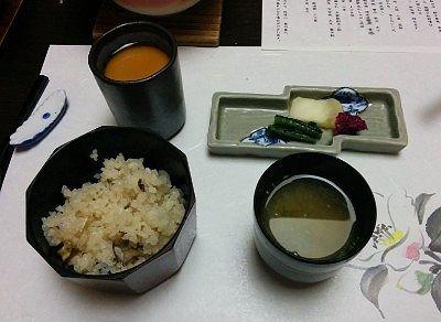 ご飯と味噌汁とお漬物