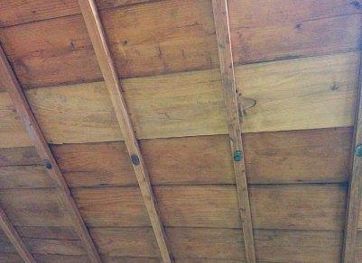 展示エリアの天井