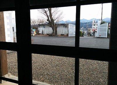 廊下から見えた外の景色