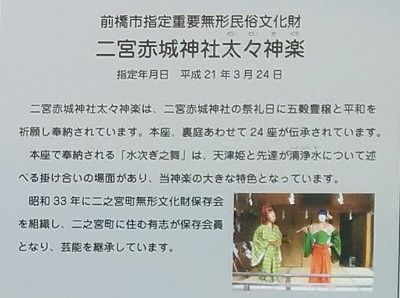 二宮赤城神社太々神楽の説明