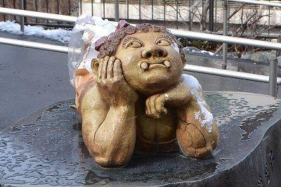 オチャメな鬼怒子の像