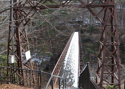 鬼怒川にかかる滝見橋