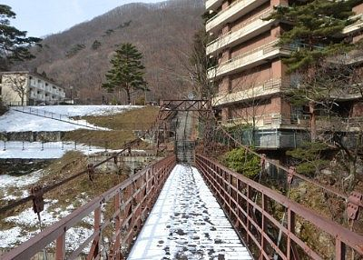 滝見橋の吊橋の様子