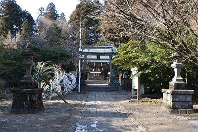 瀧尾神社参道の様子