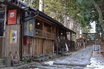本宮神社前のカフェ