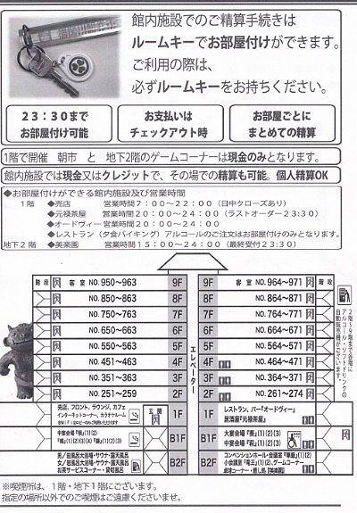 鬼怒川観光ホテル館内図