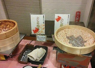 蟹焼売と蟹の茶わん蒸し