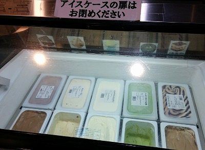 種類豊富だったアイスクリーム