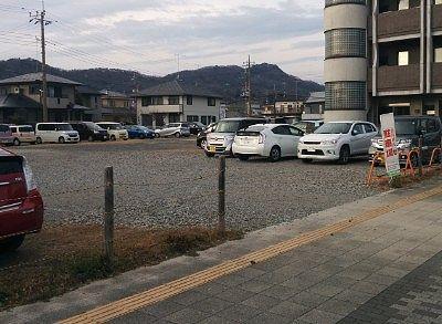 臨時駐車場の様子