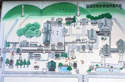 諏訪大社本宮境内案内図