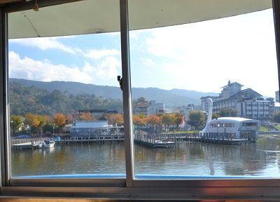 一階席の窓からの景色