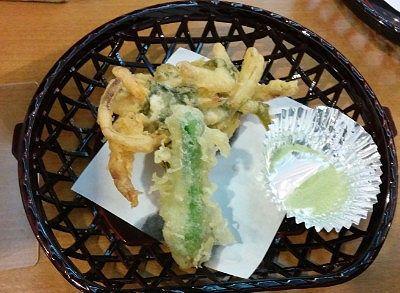 信州野沢菜のかき揚げ