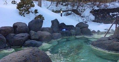 女湯の雪見風呂