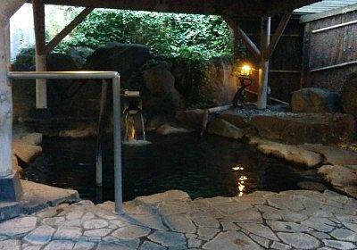 湖天の湯の露天風呂