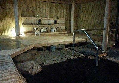 露天風呂にあった洗い場