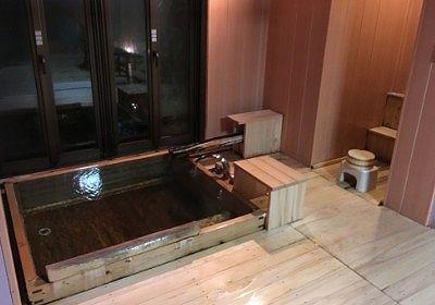 貸切風呂の浴槽の様子